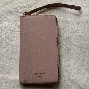 Kate Spade Rose Zip Wristlet & iPhone 10 X Case